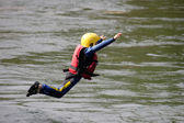 A man, rafting — Foto Stock