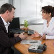 Man and woman at work — Stock Photo #66149881