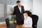 Man and woman at work — Stok fotoğraf