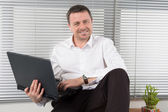 Business man at work — Stock Photo
