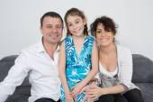 Nice rodziny trzech — Zdjęcie stockowe