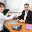 Man and woman at work — Stock Photo #67366673
