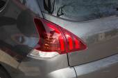 The Closeup of a taillight on a modern car — Stock Photo