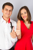 Nice and romantic lovely couple — Foto de Stock