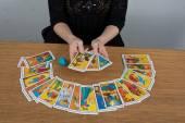 Hands of fortune teller — Stock Photo