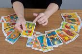 Hands of fortune teller — Foto Stock
