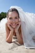 Nice and lovely bride — Stock Photo