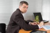 Uomini d'affari allegro — Foto Stock
