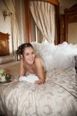 Woman in her wedding day — Stock Photo