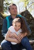 父と娘一緒に — ストック写真