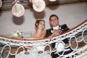 Par de boda agradable — Foto de Stock