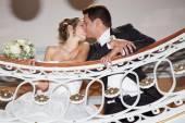 Nice wedding couple — Stock Photo