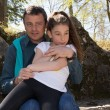 Nice complicity between a father and his daughter — Stock Photo #72255893