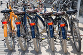 Bicycles For Rent or sell  In The Street — Stock Photo