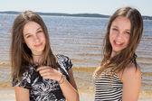 Twin sister — Stock Photo