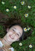 Teenager young girl in hollyday — Stock Photo