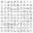 100 vector line icons set for web design and user interface — Stock Vector #58488787