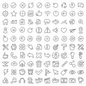 100 vector icons set for web design and user interface — Stockvektor