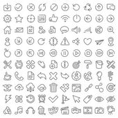 100 vector icons set for web design and user interface — 图库矢量图片