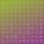 One hundred  vector line icons set — Vector de stock