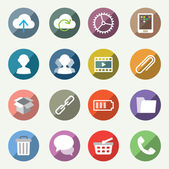 Vector icons set for web and user interface — Vecteur