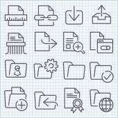 Vector thin line icons set — Stock Vector