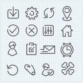 Line vector icon set — Stock Vector