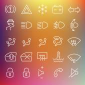 Vector clean icons set — Stock Vector
