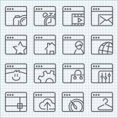 Vector line icons set  — Stock Vector