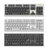 Vector Computer keyboards with ENG letters — Stock Vector