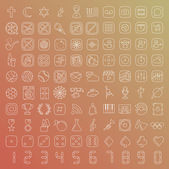 One hundred vector line icons set — Stockvector
