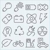 Vector clean icons set for web design and application user inter — Stock Vector