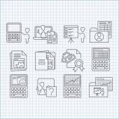 Programming, education and developing icons set — Stock Vector
