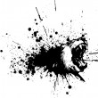 Black ink blot lion — Stock Vector #60522533