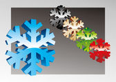 Colorful holiday snowflakes — Vector de stock