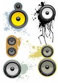 Music loudspeaker set — Stock Vector