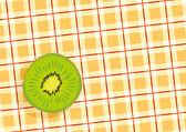 Green ripe Kiwi — Stock Vector