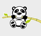 Cartoon animal Panda — Stock Vector
