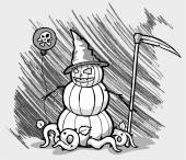 Halloween holiday jack-o-lantern — Stock Vector