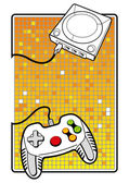 Gamepad with console illustration — Stock Vector