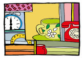 Cartoon cup of coffee — Stock Vector