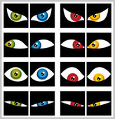 Colorful Eyes set — Stock Vector