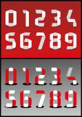 Abstract numbers set — Stock Vector