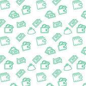 Finance seamless  pattern — Stock Vector