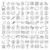 Miscellaneous  line icons set — Stock Vector