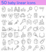 Line baby icons set. — Stock Vector