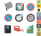 Graphic style car icons — Vector de stock