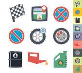 Graphic style car icons — Stockvektor