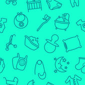 Seamless baby goods pattern — Vector de stock