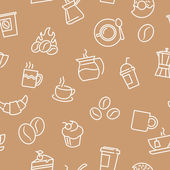 Seamless patterns with coffee theme — ストックベクタ